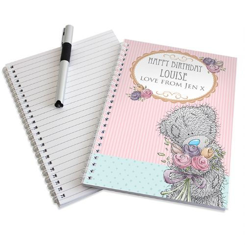 Personalised Me To You Flowers A5 Notebook